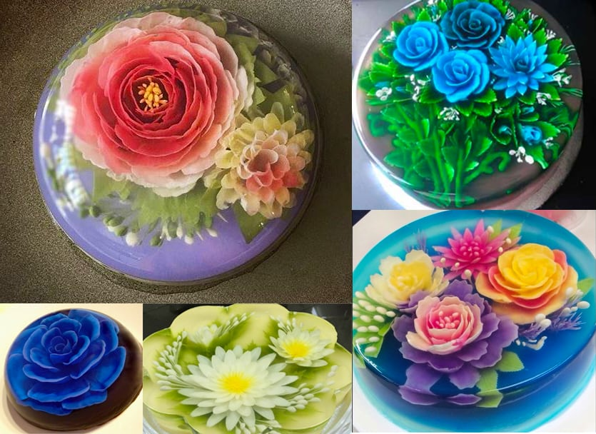 3D Gelatin Art - Where to Find & How to Make Jello Flowers ...