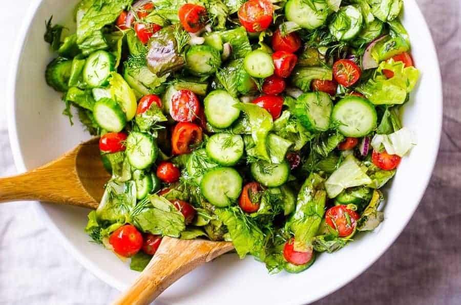 cách làm salad rau củ tại nhà