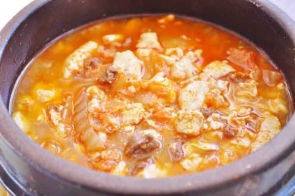 Canh/kho/hầm/lẩu kim chi (kimchi jjigae/guk)