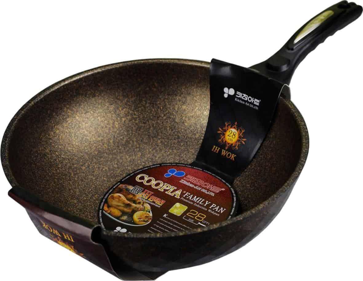 Chảo chống dính sâu lòng đá cẩm thạch thương hiệu Kitchen Art size 28cm nhập khẩu Hàn Quốc dùng cho mọi loại bếp kể cả bếp từ - Chảo, chảo chống dính |