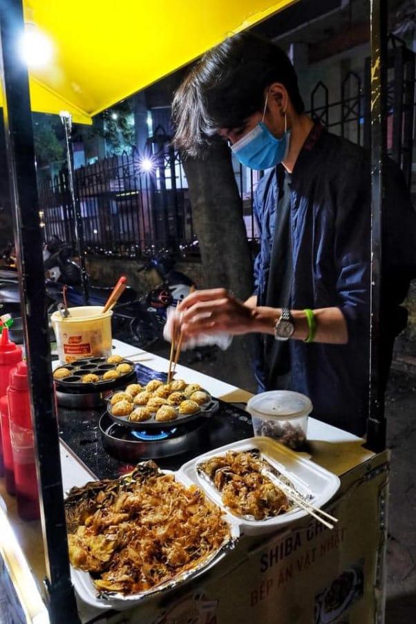 Quán vỉa hè - Xe đẩy Takoyaki